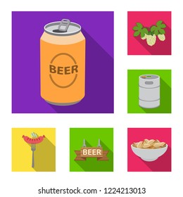 Vector design of pub and bar logo. Collection of pub and interior stock symbol for web.