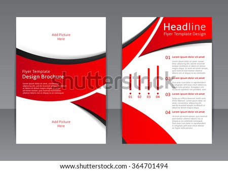 Vector Design Red Flyer Cover Brochure Stock Vector Royalty Free