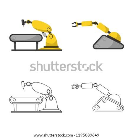 Wondrous Vector Design Robot Factory Symbol Set Stock Vector Royalty Dailytribune Chair Design For Home Dailytribuneorg
