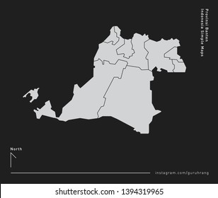 Vector design of simple 34 Province of Indonesia Map with polygonal design and editable EPS-10 format. Every map including line and detail of city or district area in province of Indonesia.