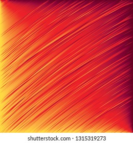 Vector design of slanted lines in red orange and yellow in abstract background