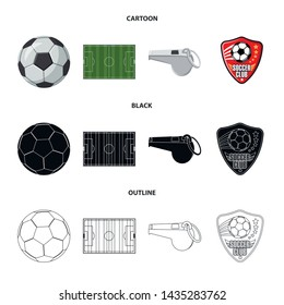 Vector design of soccer and gear icon. Set of soccer and tournament stock vector illustration.