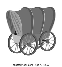 Vector design of stagecoach and wagon sign. Set of stagecoach and ride stock vector illustration.