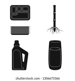 Vector design of sucrose and technology sign. Collection of sucrose and cane vector icon for stock.