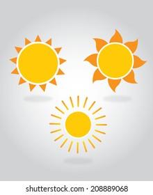 Vector For Design Sun Icon