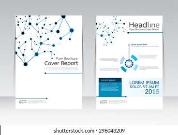 Vector design technology business for Cover Report Annual Brochure Flyer Poster in A4 size