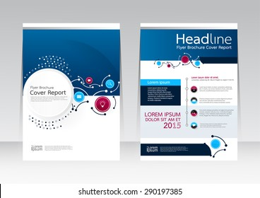 Vector design technology for Cover Report Annual Brochure Flyer Poster in A4 size