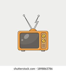 Vector design - Television vintage yellow