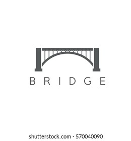 vector design template of abstract bridge construction