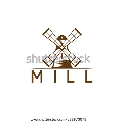 vector design template abstract windmill stock vector royalty free