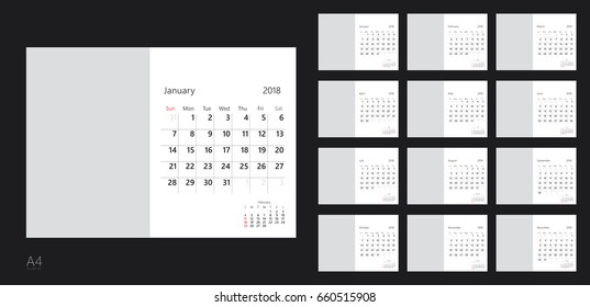 Calendar Template Images Stock Photos Vectors Shutterstock