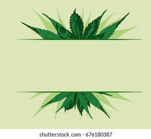 Vector design template with cannabis leaf