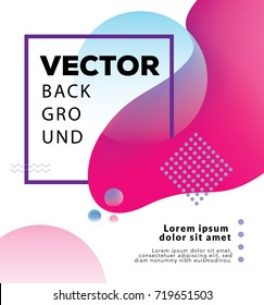 Vector design template - modern an minimalist in bright colors. Abstract fluid shapes with space for text perfect for banner or cover.