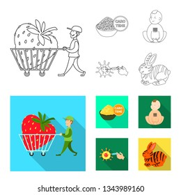 Vector design of test and synthetic icon. Collection of test and laboratory vector icon for stock.