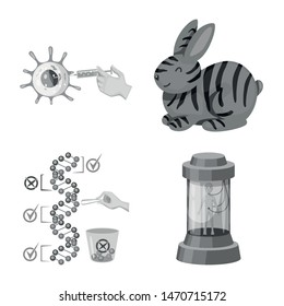 Vector design of transgenic and organic symbol. Set of transgenic and synthetic vector icon for stock.