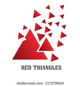 Vector Design Triangle Group Business, Red Color Gradient Style