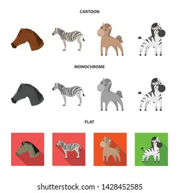 Vector design of trot and running sign. Collection of trot and clipart stock vector illustration.