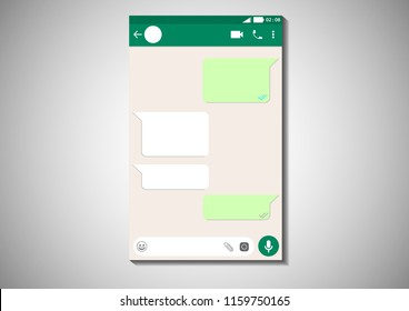 vector design of user interface chatting template mobile application