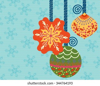 Vector design of vintage and retro Merry Christmas background
