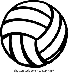 Vector design of a volleyball that is made of stylized lines.