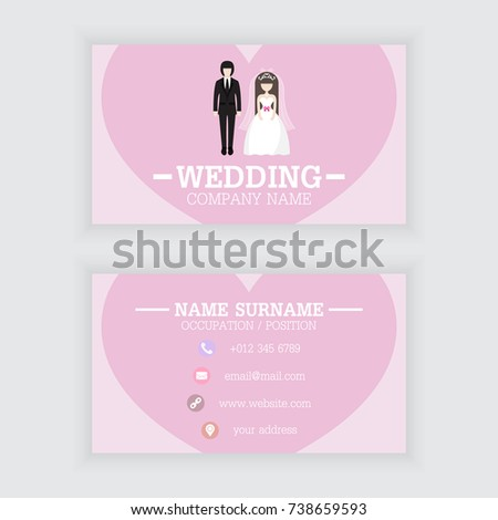 Vector design wedding business card template stock vector royalty vector design of wedding business card template friedricerecipe Images