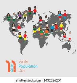 Vector Design for World Population Day on 11th July