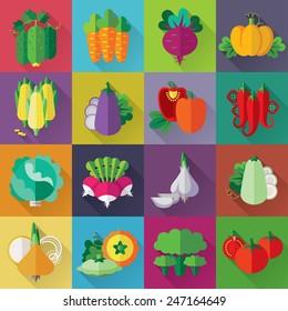 Vector designed vegetables tags set