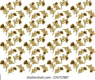 vector designs .batik background on brown.