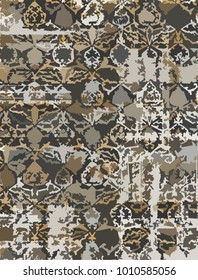 Vector, detailed abstract texture or grunge ;  For art texture, vintage, ethnic , modern damask pattern , carpet, rug,  scarf, clipboard , shawl pattern. colors are brown and beige