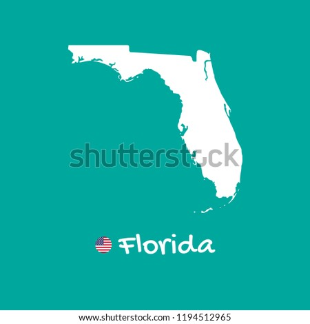 Detailed Map Of Florida.Vector Detailed Map Florida Isolated On Stock Vector Royalty Free