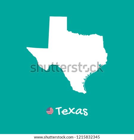Detailed Map Of Texas.Vector Detailed Map Texas Isolated On Stock Vector Royalty Free