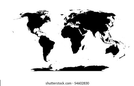 World map silhouette images stock photos vectors shutterstock vector detailed world map silhouette gumiabroncs Gallery
