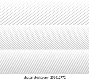 Vector diagonal lines. Gradient. Background for brochure. Grey unusual texture. Line rhythm.