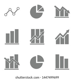 vector diagram and graphic icon symbol statistic
