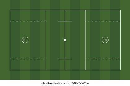 Vector diagram of a men's lacrosse field.