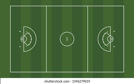 Vector diagram of a women's lacrosse field.