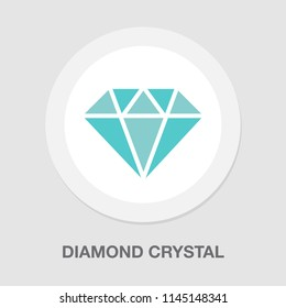 vector diamond crystal logo isolated, diamond shape - crystals jewelry