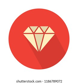 vector diamond illustration. crystal stone jewelry - expensive gift