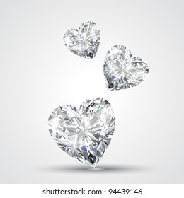 vector diamond shape heart design illustration