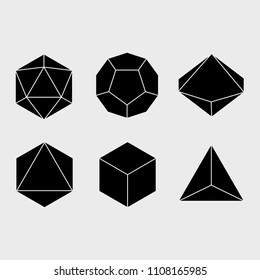 Vector dice set. Game attributes. EPS 10. Black and White.