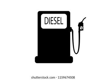 vector diesel fuel pump silhouette