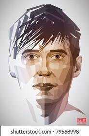 Vector digital man portrait