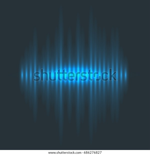 Vector Digital Music Equalizer Audio Waves Stock Vector (Royalty