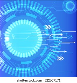 vector digital technology, abstract background