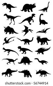 vector dinosaur silhouette