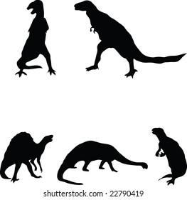 Vector dinosaurs