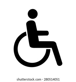 Vector disabled handicap icon, Illustration EPS10
