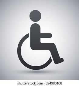 Vector disabled sign