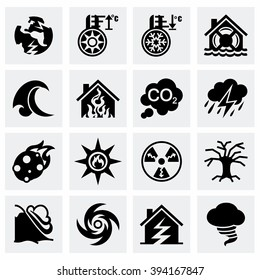 Vector Disaster icon set