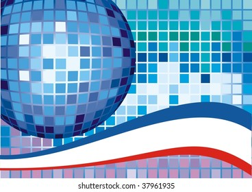 Vector disco ball (CMYK color profiles)
